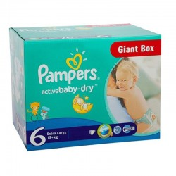 Giga pack 240 Couches Pampers Active Baby Dry taille 6 sur Couches Zone