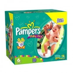 Giga pack 228 Couches Pampers Baby Dry taille 6 sur Couches Zone