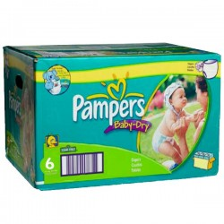 Pack jumeaux 532 Couches Pampers Baby Dry taille 6 sur Couches Zone
