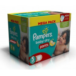 Pack 42 Couches Pampers Baby Dry Pants taille 5 sur Couches Zone