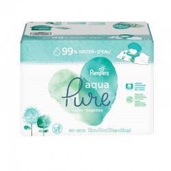 Maxi giga pack 384 Lingettes Bébés Pampers Aqua Pure sur Couches Zone