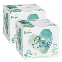 Pack jumeaux 768 Lingettes Bébés Pampers Aqua Pure sur Couches Zone