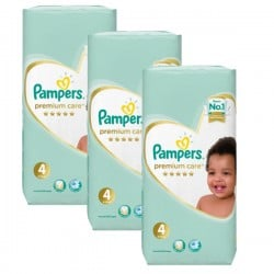 Maxi giga pack 340 Couches Pampers New Baby Premium Care taille 4 sur Couches Zone