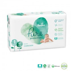 Pack 50 Couches Pampers Pure Protection taille 1 sur Couches Zone