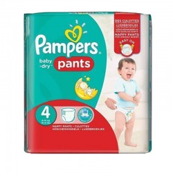 Pack 16 Couches Pampers Baby Dry Pants taille 4 sur Couches Zone