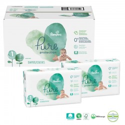 Mega pack 100 Couches Pampers Pure Protection taille 1 sur Couches Zone