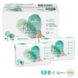 Mega pack 150 Couches Pampers Pure Protection taille 1 sur Couches Zone