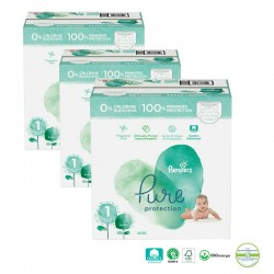 Giga pack 200 Couches Pampers Pure Protection taille 1 sur Couches Zone