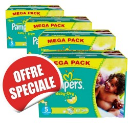 Giga pack 264 Couches Pampers Baby Dry taille 5