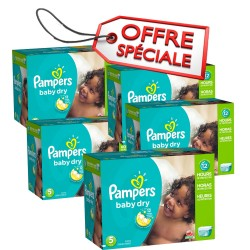 616 Couches Pampers Baby Dry taille 5