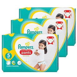 136 Couches Pampers Premium Protection Pants taille 5 sur Couches Zone