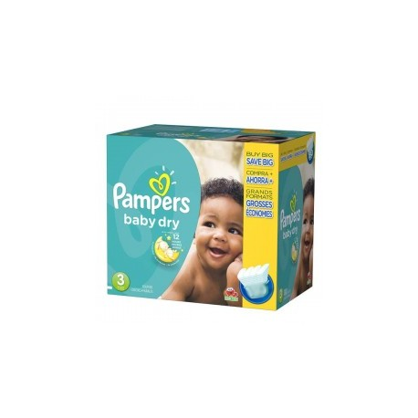 Mega pack 152 Couches Pampers Baby Dry taille 3 sur Couches Zone