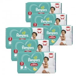 540 Couches Pampers Baby Dry Pants taille 3 sur Couches Zone