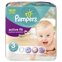 Pack 68 Couches Pampers Active Fit taille 3 sur Couches Zone
