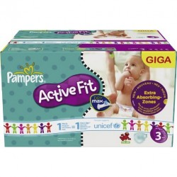 136 Couches Pampers Active Fit taille 3