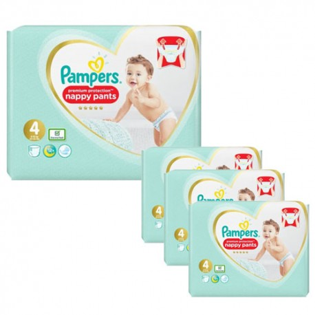 Pack jumeaux 608 Couches Pampers Premium Protection Pants taille 4 sur Couches Zone