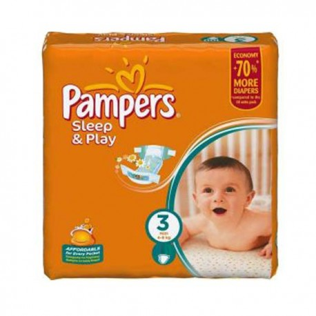 Pack 78 Couches Pampers Sleep & Play taille 3 sur Couches Zone