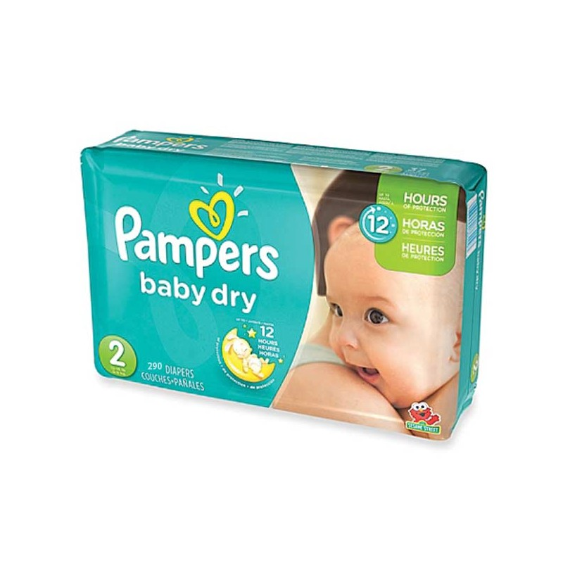290 Couches Pampers Baby Dry Taille 2 à Bas Prix Sur Couches Zone