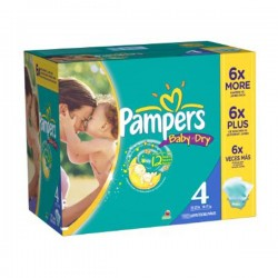 Mega pack 156 Couches Pampers Baby Dry taille 4 sur Couches Zone