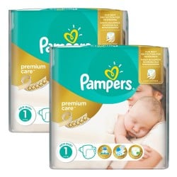 Mega pack 132 Couches Pampers New Baby Premium Care taille 1 sur Couches Zone