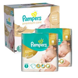 Mega pack 176 Couches Pampers New Baby Premium Care taille 1 sur Couches Zone