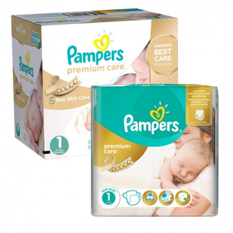 Maxi giga pack 308 Couches Pampers New Baby Premium Care taille 1 sur Couches Zone