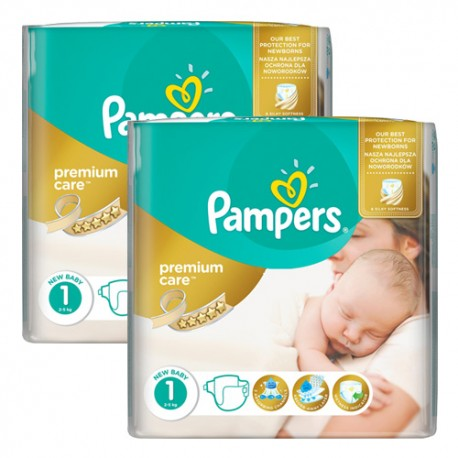 Maxi mega pack 484 Couches Pampers New Baby Premium Care taille 1 sur Couches Zone